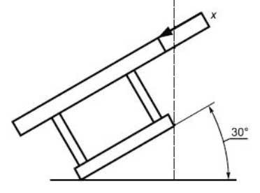 Сиденье-колыбель с углом наклона 30° к горизонтальной поверхности